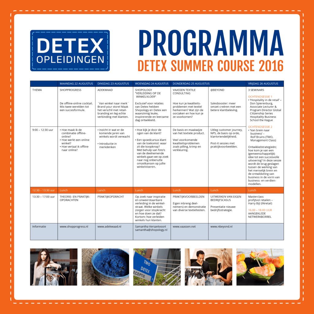 Programma DETEX Summer Course 2016